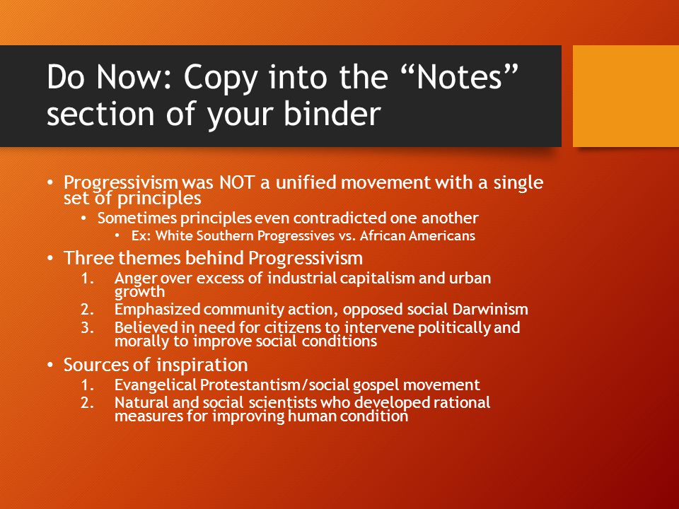 Do Now: Copy into the Notes section of your binder