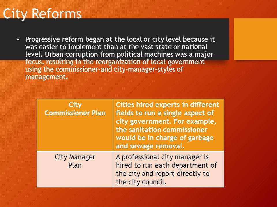 City Reforms