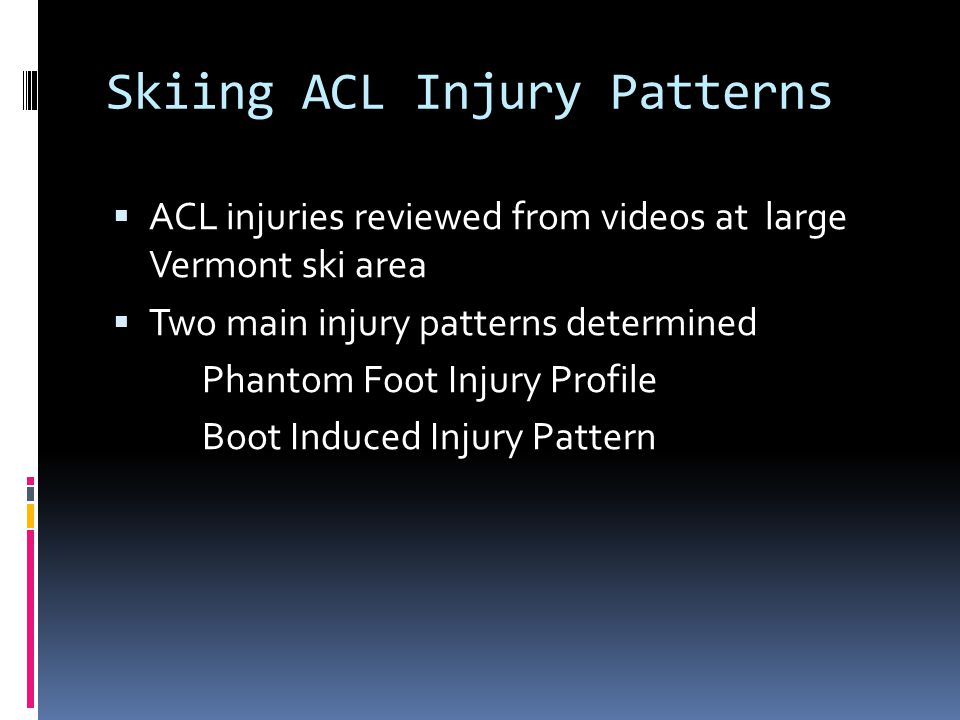 Skiing ACL Injury Patterns