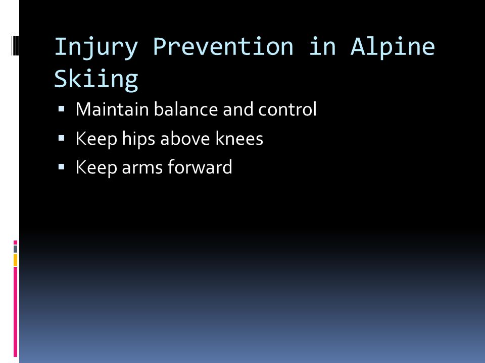 Injury Prevention in Alpine Skiing