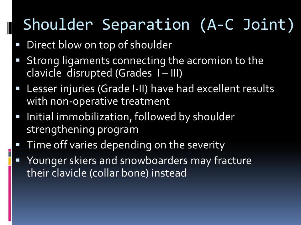 Shoulder Separation (A-C Joint)