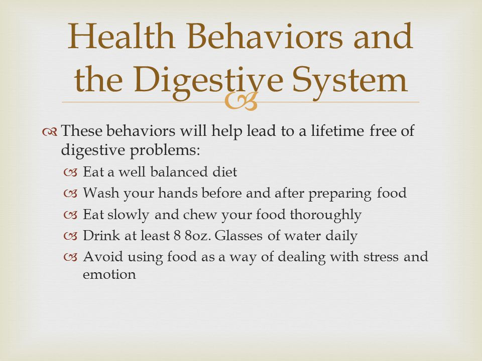 Health Behaviors and the Digestive System
