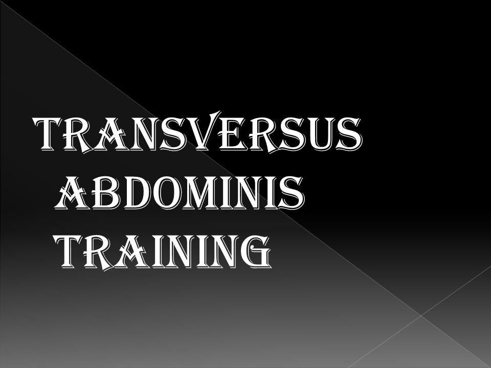training transversus abdominis
