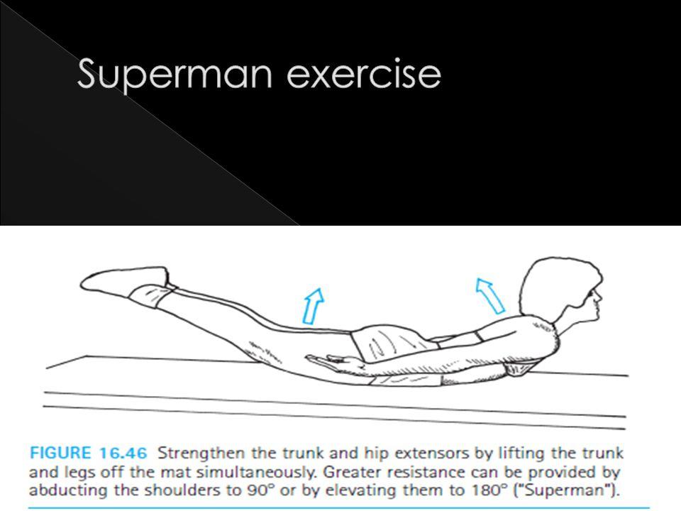 Superman exercise
