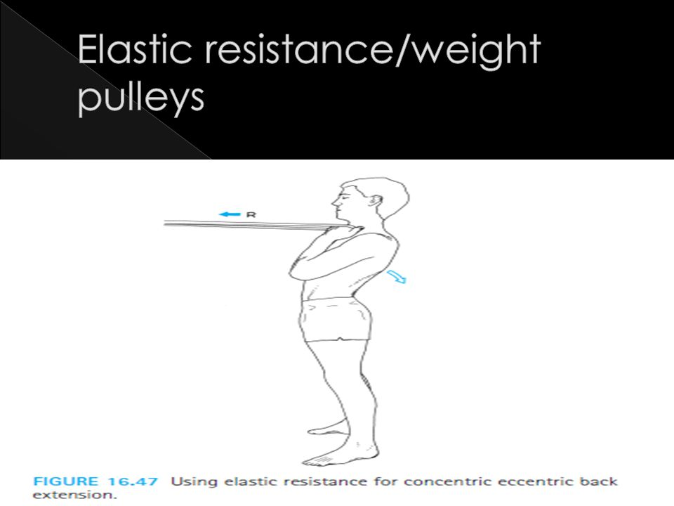 Elastic resistance/weight pulleys