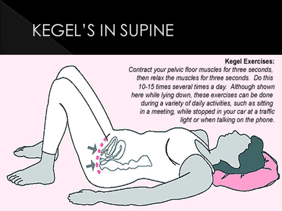 KEGEL'S IN SUPINE