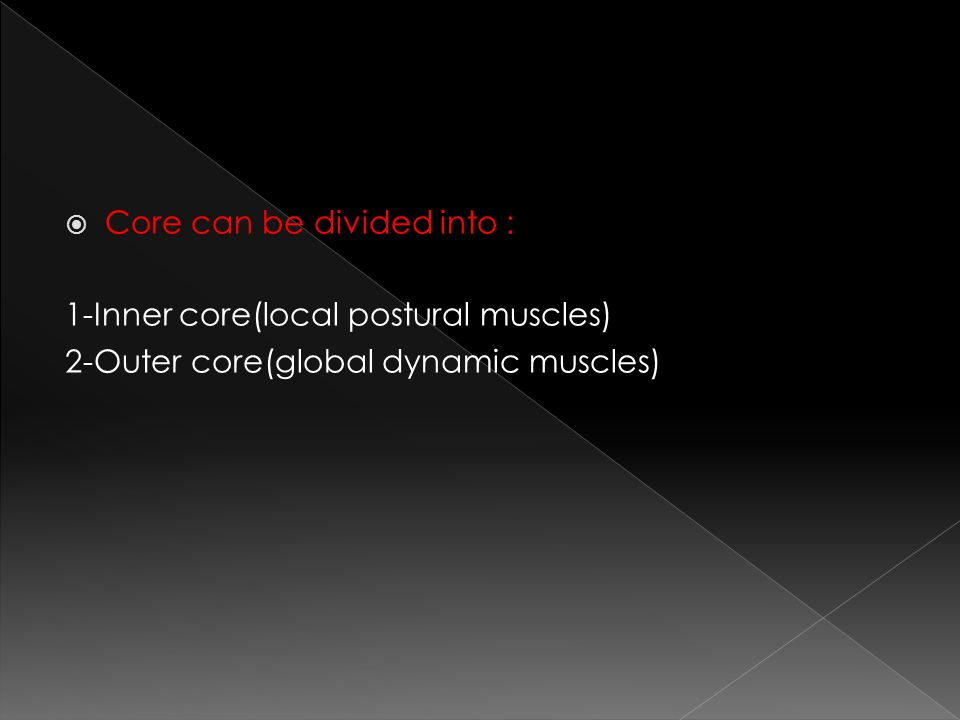 Core can be divided into :