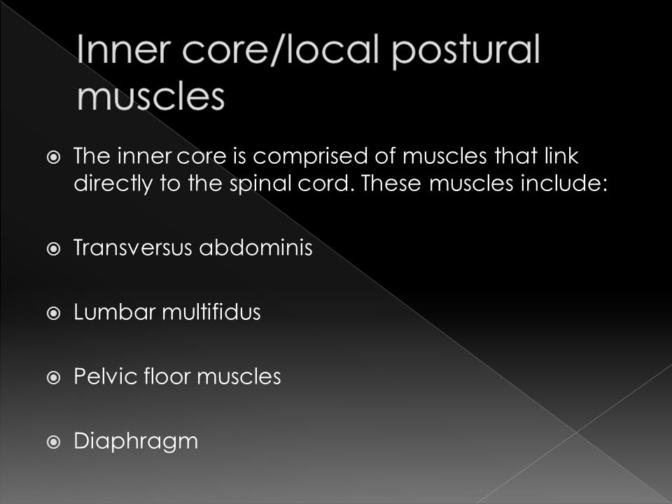 Inner core/local postural muscles