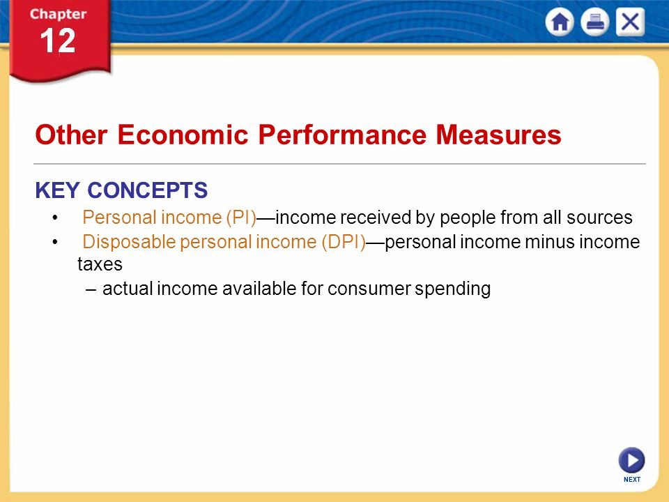 Other Economic Performance Measures