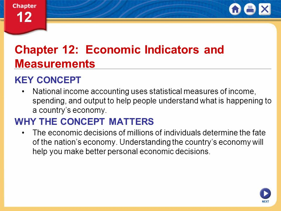 Chapter 12: Economic Indicators and Measurements