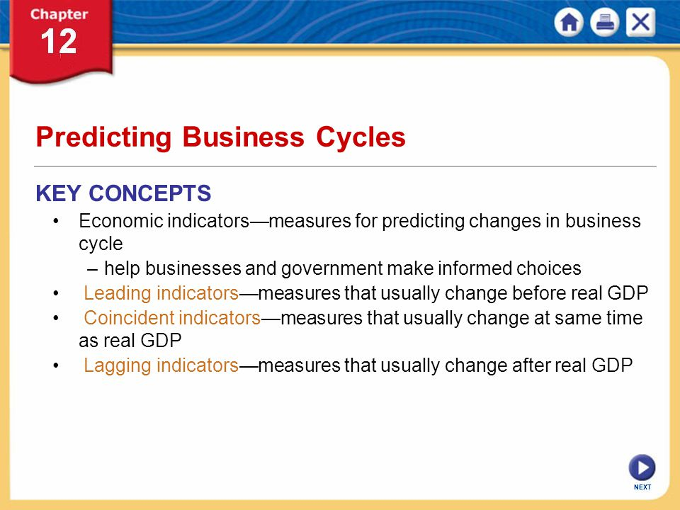 Predicting Business Cycles