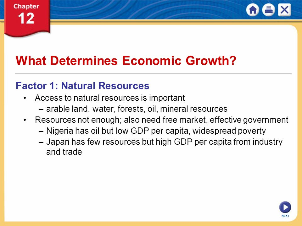What Determines Economic Growth