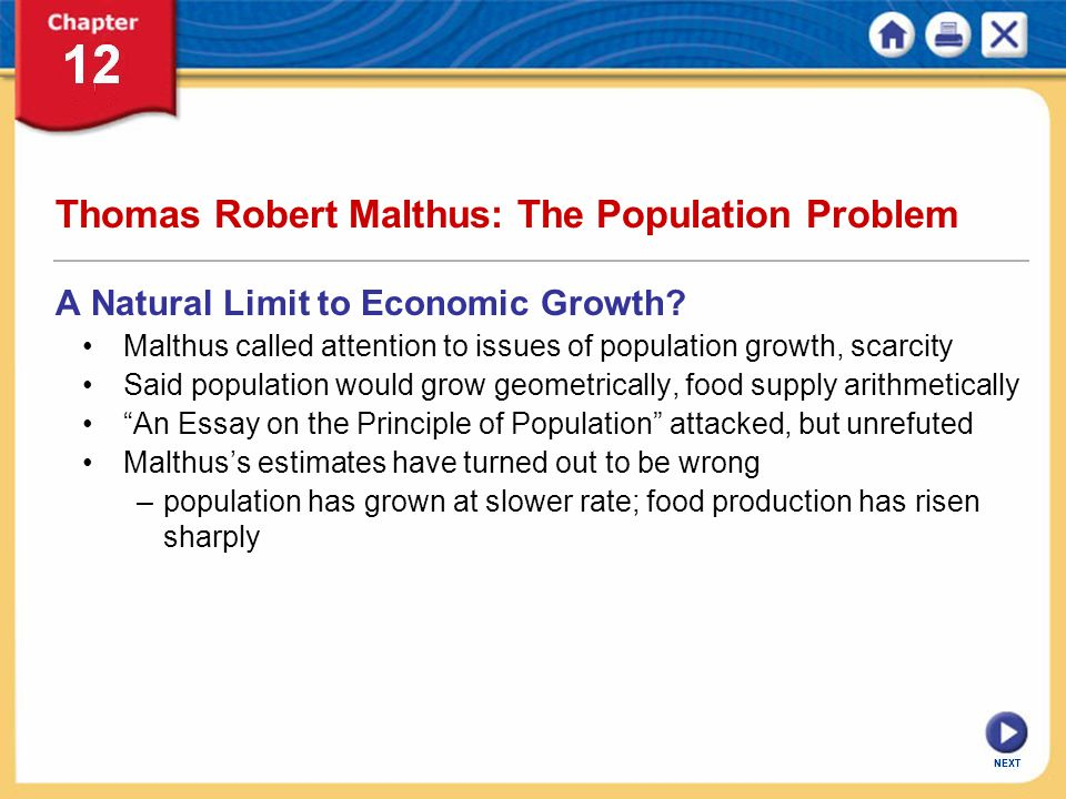 Thomas Robert Malthus: The Population Problem