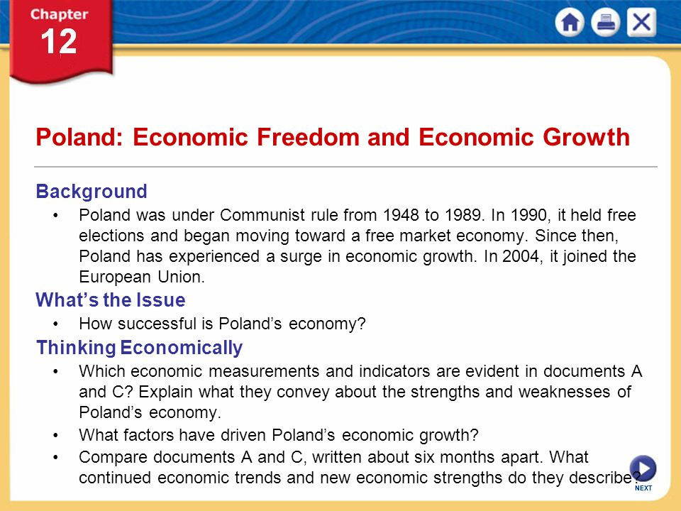 Poland: Economic Freedom and Economic Growth