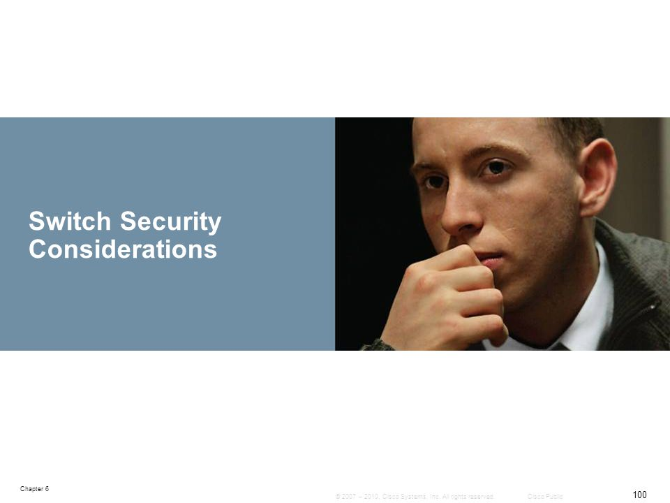 Switch Security Considerations