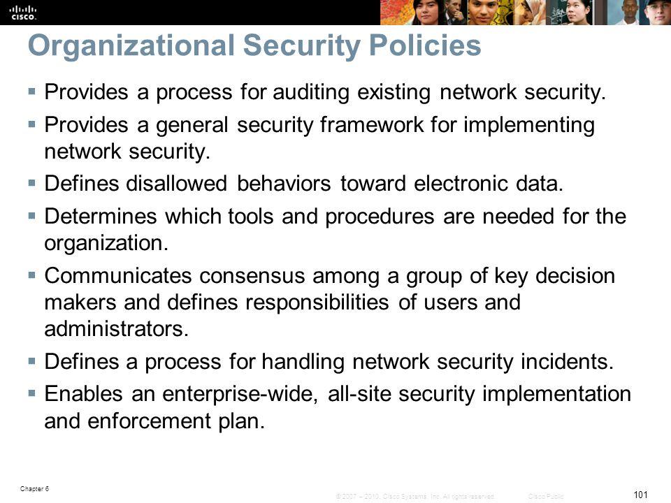 Organizational Security Policies