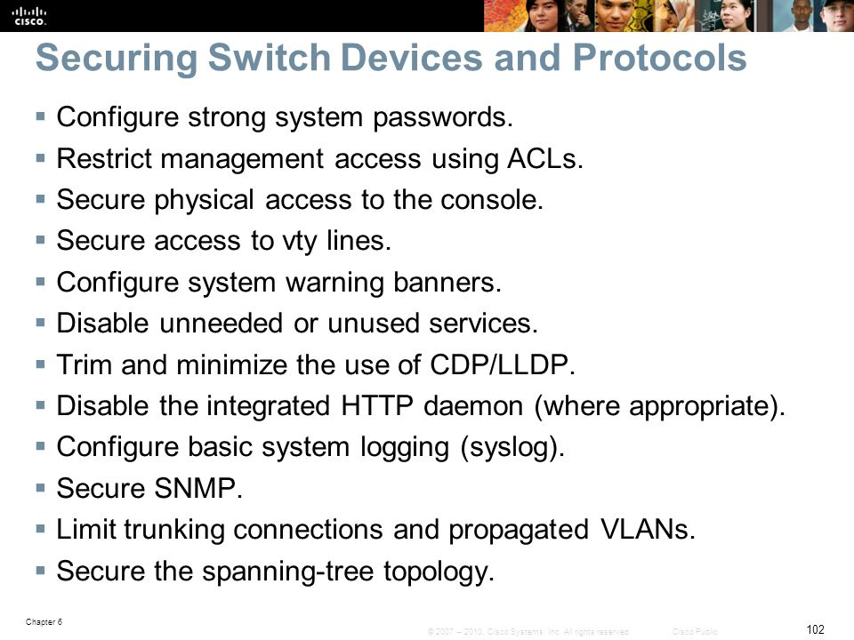Securing Switch Devices and Protocols