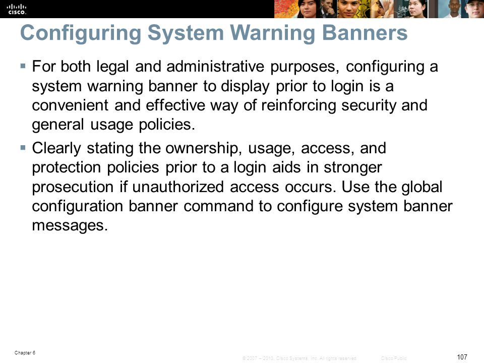 Configuring System Warning Banners
