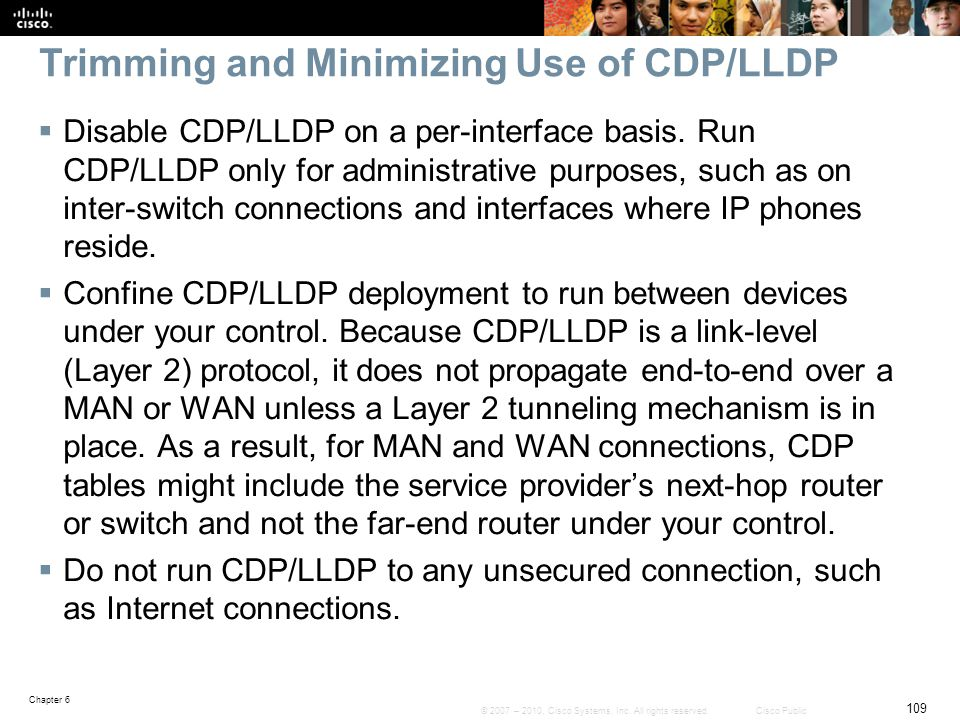 Trimming and Minimizing Use of CDP/LLDP