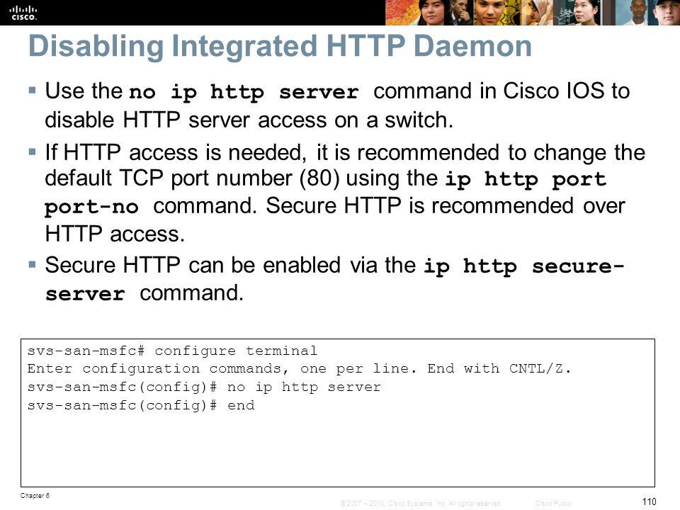 Disabling Integrated HTTP Daemon
