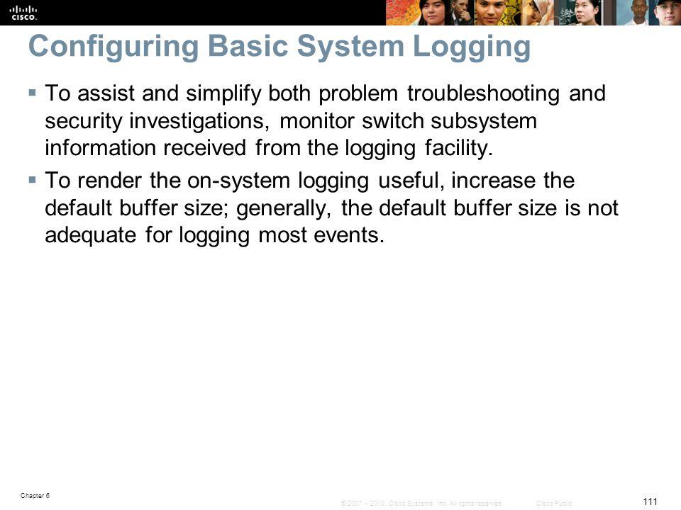Configuring Basic System Logging