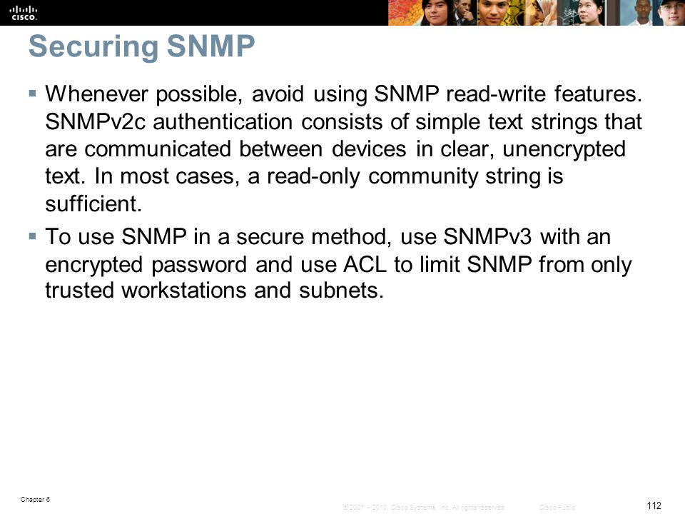 Securing SNMP