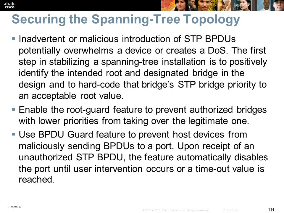 Securing the Spanning-Tree Topology