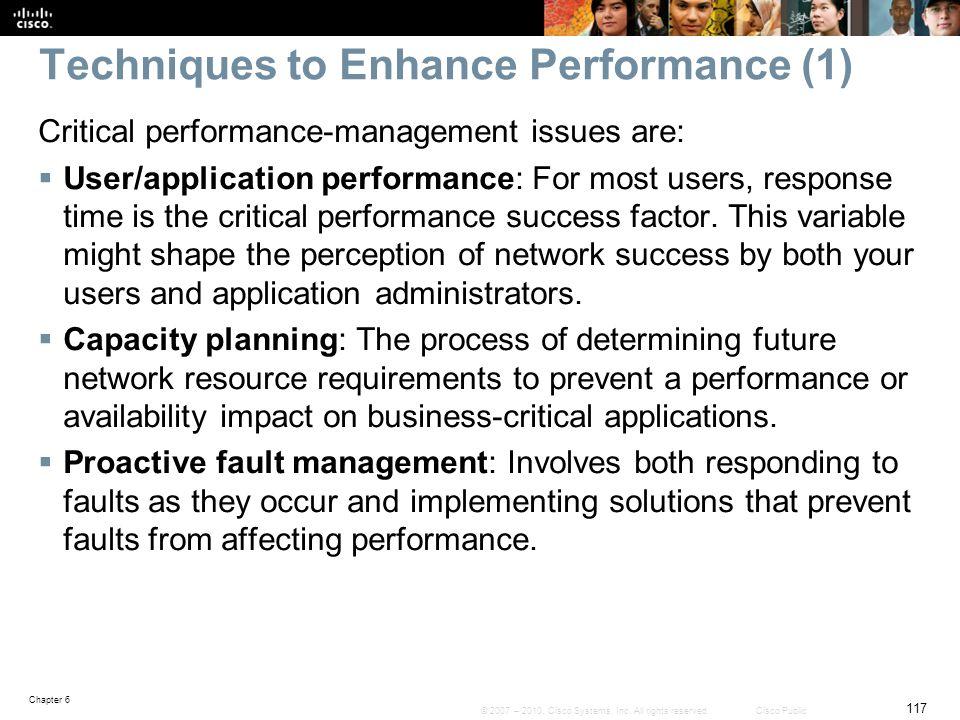 Techniques to Enhance Performance (1)