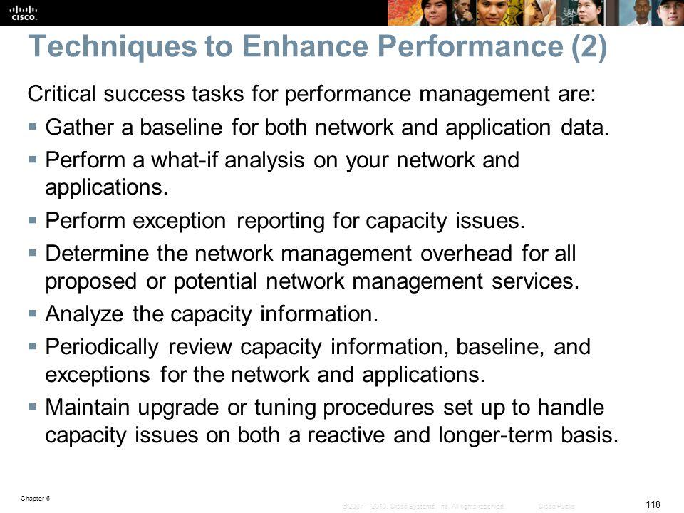 Techniques to Enhance Performance (2)