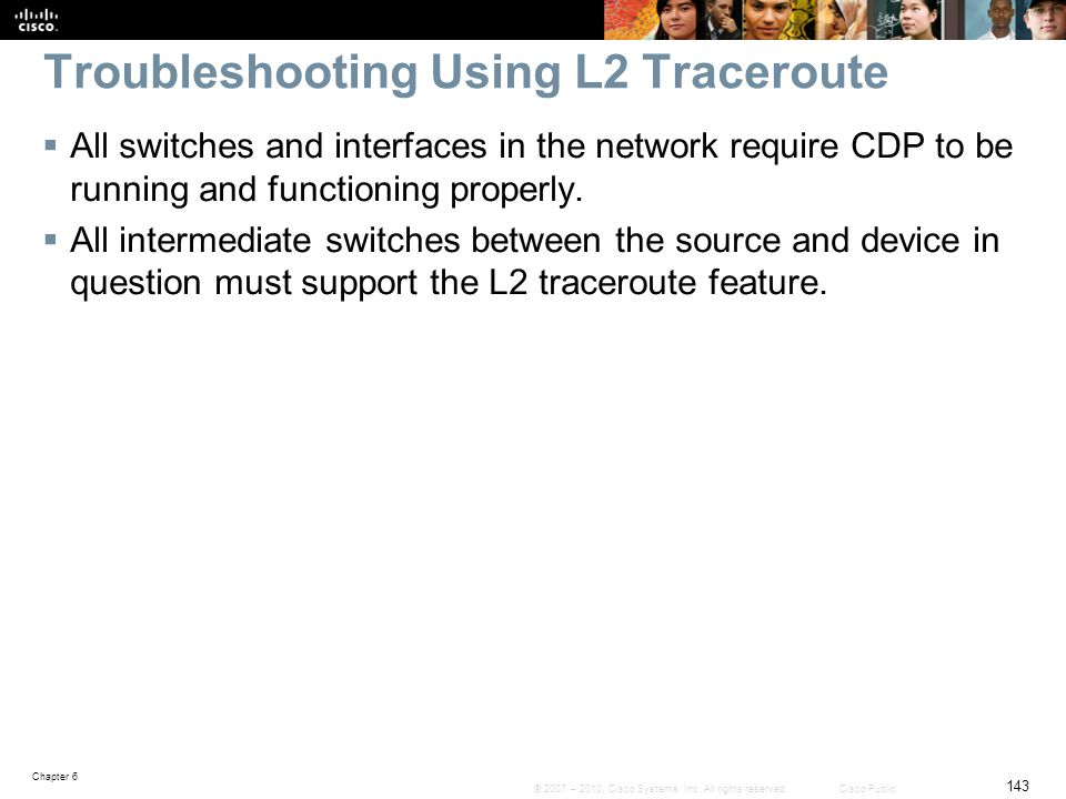 Troubleshooting Using L2 Traceroute