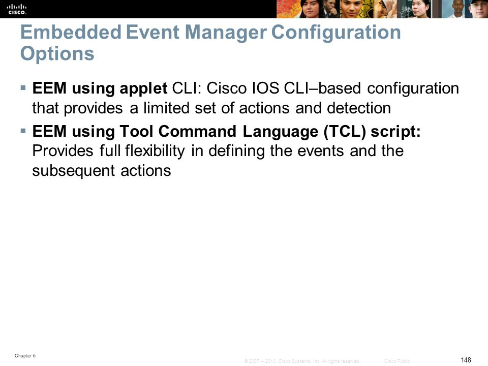 Embedded Event Manager Configuration Options