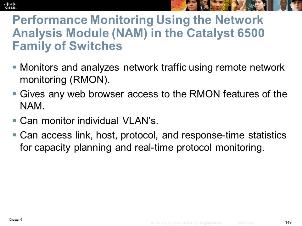 Performance Monitoring Using the Network Analysis Module (NAM) in the Catalyst 6500 Family of Switches