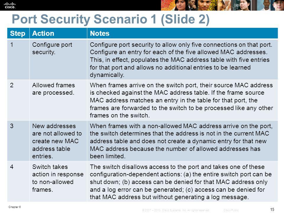 Port Security Scenario 1 (Slide 2)