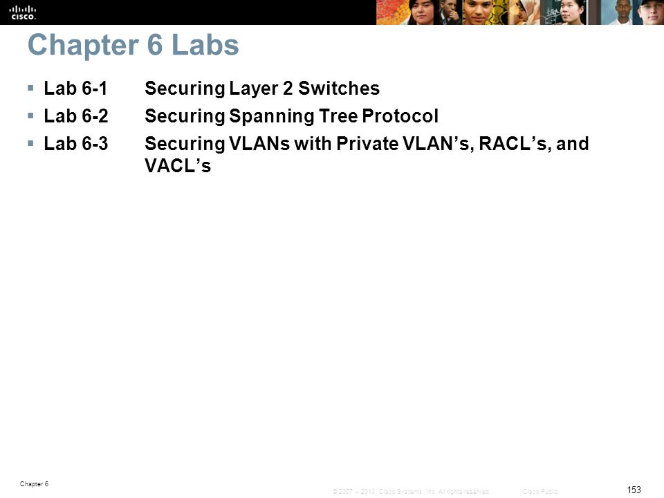 Chapter 6 Labs Lab 6-1 Securing Layer 2 Switches
