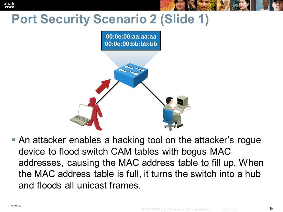 Port Security Scenario 2 (Slide 1)