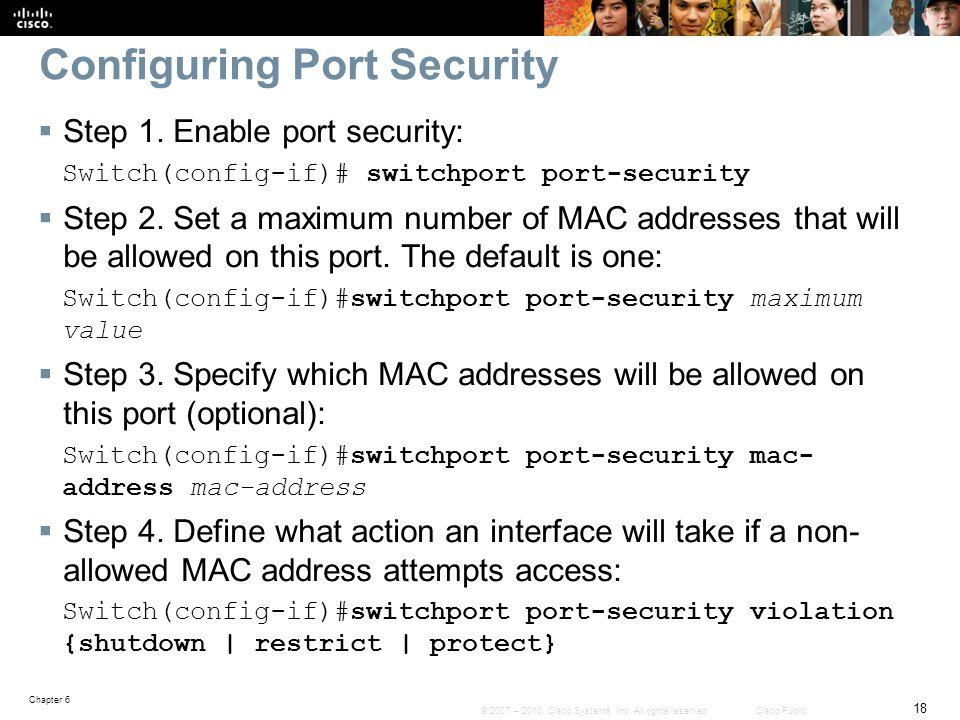 Configuring Port Security