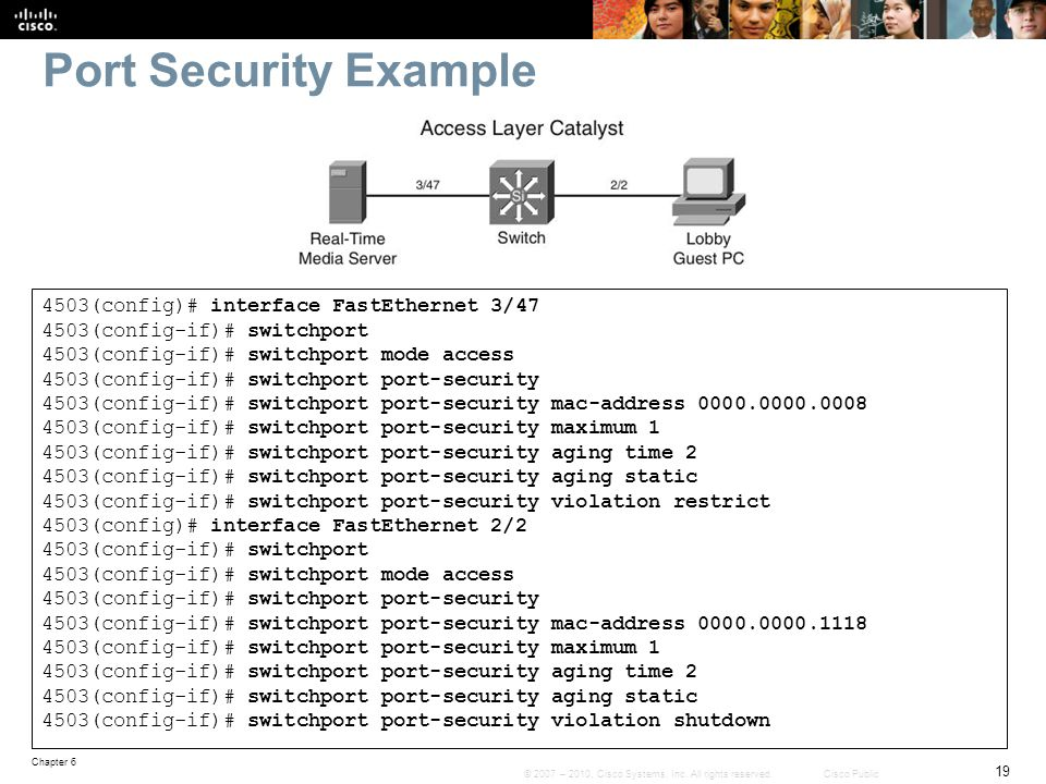 Port Security Example