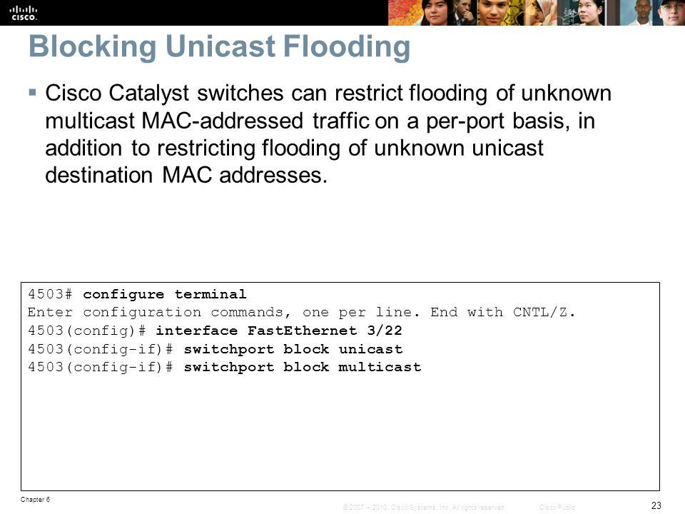 Blocking Unicast Flooding