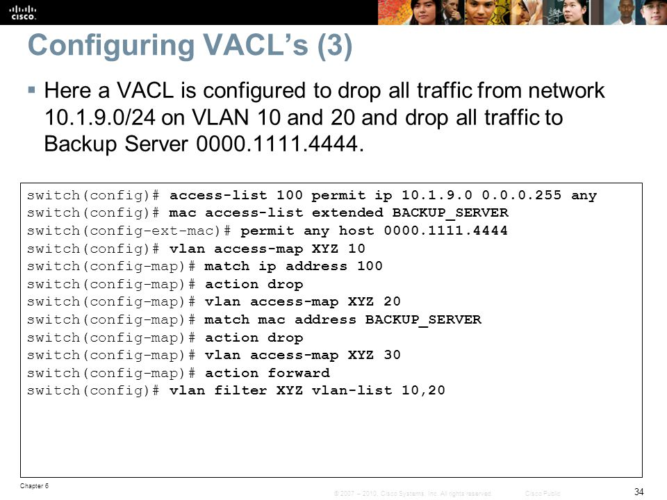 Configuring VACL's (3)