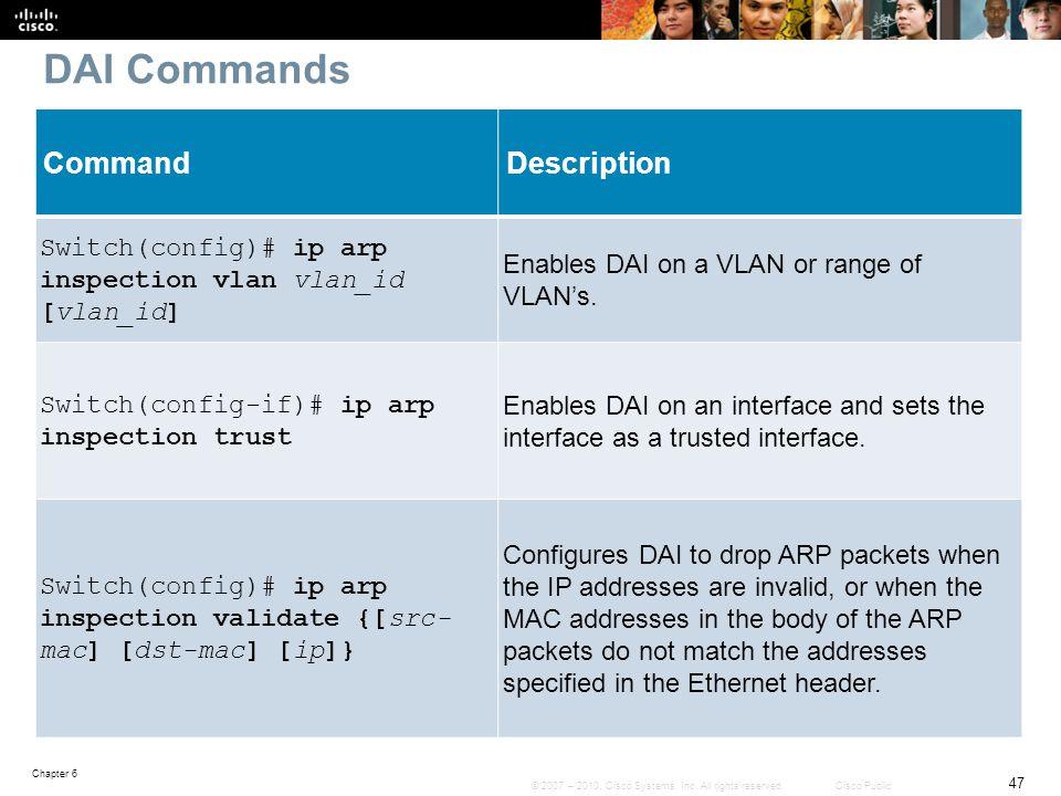 DAI Commands Command Description