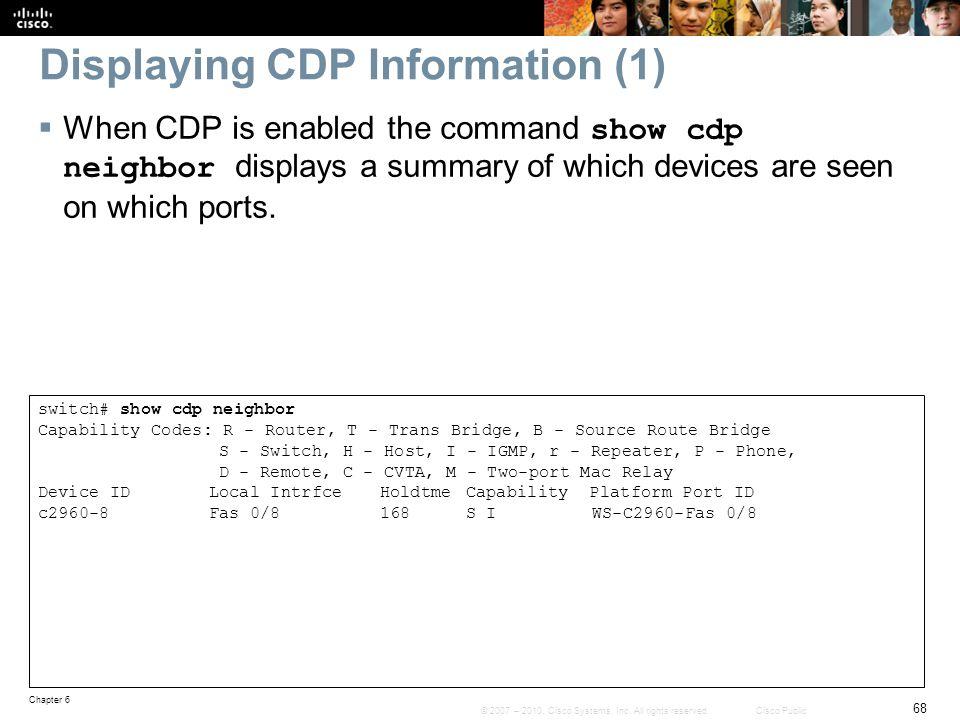 Displaying CDP Information (1)