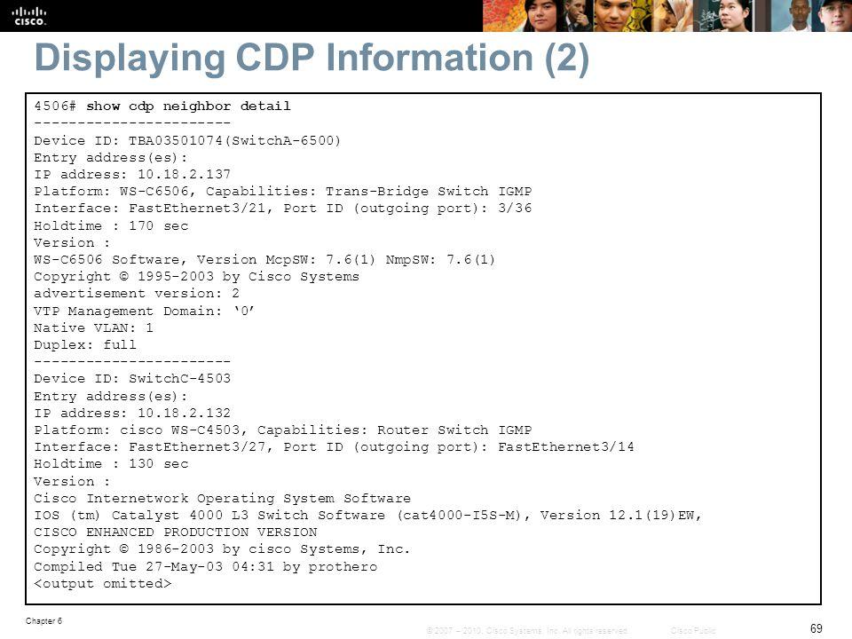 Displaying CDP Information (2)