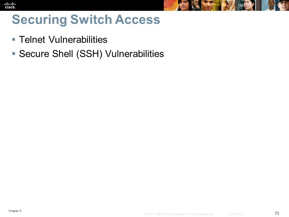 Securing Switch Access