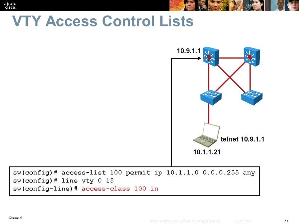 VTY Access Control Lists