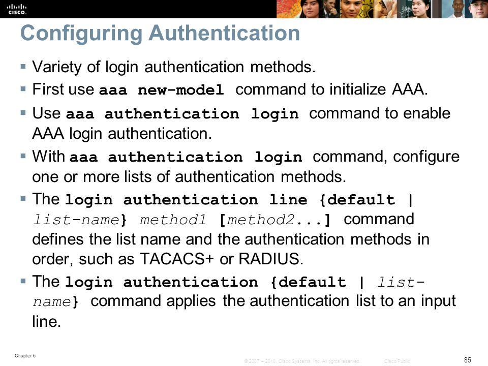 Configuring Authentication