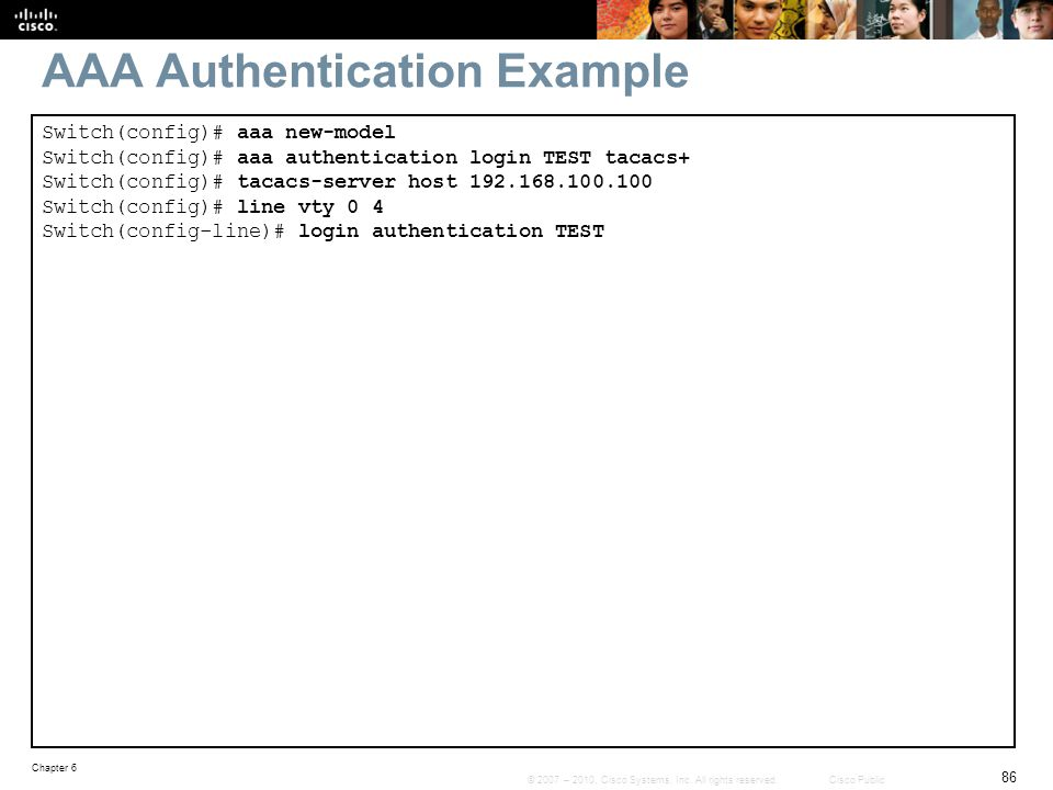 AAA Authentication Example