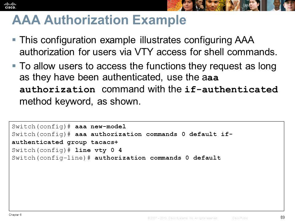 AAA Authorization Example