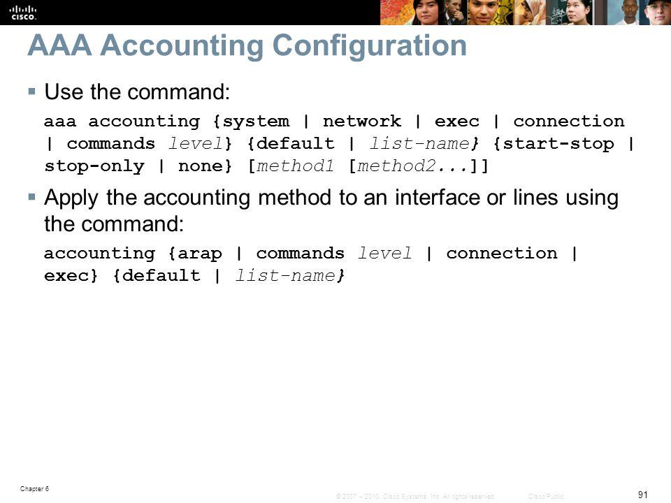 AAA Accounting Configuration