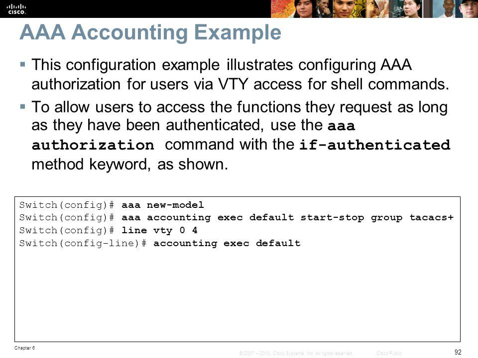 AAA Accounting Example