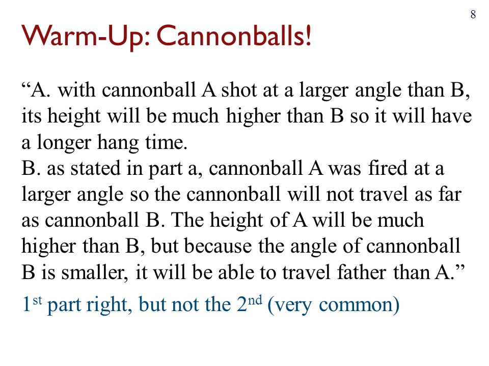Warm-Up: Cannonballs!